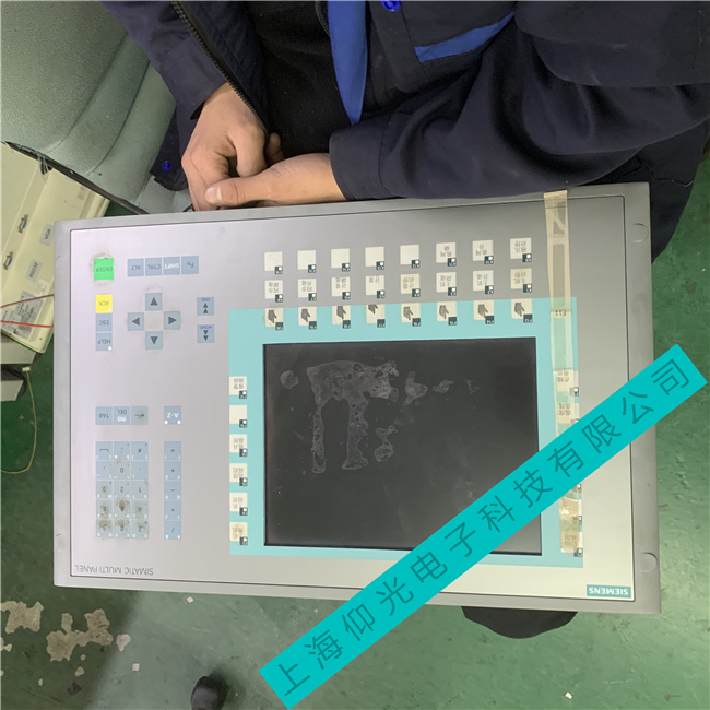 西门子触摸屏液晶屏无显示,亮度看不清楚维修